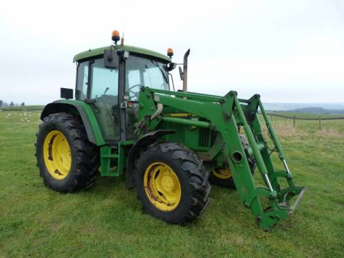John Deere 6210 with JD 551 Loader